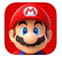 The first face is promo art from New Super Mario Bros for