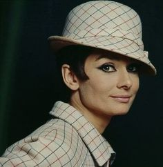 Audrey in Paris wearing Givenchy.