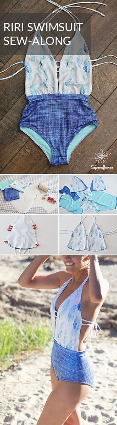 There are so many great swimsuit patterns available to pair with our favorite swimsuit material, Sport Lycra. We're excited to share one of the newest patterns helping us beat the heat : the RiRi swimsuit by Mimi Goodwin featured in May's issue of Sew Sew Def Magazine. Click to see how Alexia Sotelo, a self-taught sewist and DIY swimsuit extraordinaire, shows how easy it is to make your own swimsuit. #swimsuit #bathingsuit #sewing #handmade #diywardrobe #handmadewardrobe