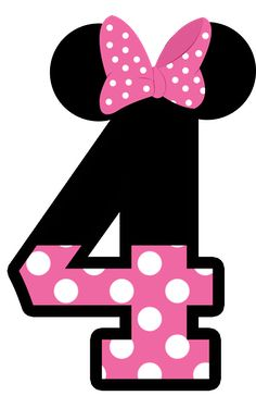 MINNIE MOUSE # 4 CLIP ART