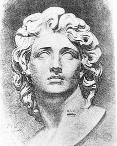 Рисованная голова Александра