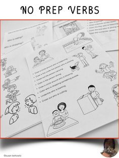 No time for prep? No problem. Grab these terrific activity sheets that you can print and run with or use on an iPad. Easy peasy for you, great practice with verbs for your students. Speech Language Therapy, Speech And Language, Speech Therapy, Person Drawing, Action Words, Activity Sheets, Therapy Ideas, My Teacher, Easy Peasy