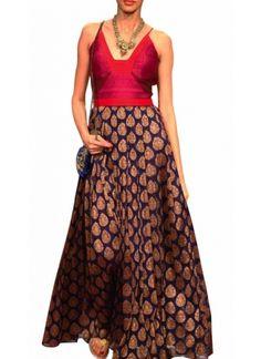 Backless Brocade Dress