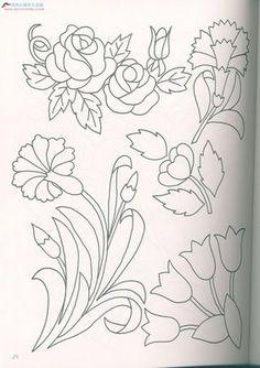 dibujos de flores para bordar - Buscar con Google