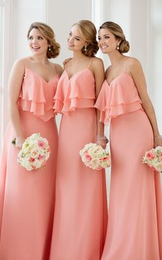Wedding dresses from Stella York Spring 2017 Bridal Collection, # bridal dresses . - Wedding dresses from Stella York Spring 2017 Bridal Collection, - Plus Size Bridesmaid, Bridesmaid Dresses Plus Size, Wedding Bridesmaid Dresses, Long Dresses, Coral Colored Bridesmaid Dresses, Coral Bridesmaids, Peach Dresses, Wedding Gowns, Bridesmaids