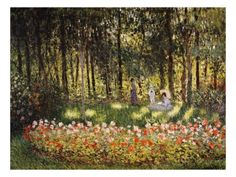 Wooded Scene Giclee Print by Claude Monet at AllPosters.com