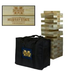 Show off your Murray State University Racers spirit with this Giant wooden tumble tower game! The wood blocks are laser engraved with the Racers logo as shown in the product image. This large Jenga-st