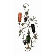 UMA Enterprises Metro Designer Metal Wall Wine Rack