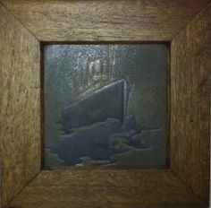 Marblehead Pottery tile, ocean liner, signed, 6 in. Traditional Tile, Rookwood Pottery, Arts And Crafts Furniture, Arts And Crafts Movement, Pottery Art, Bungalow, Craftsman, Tiles, Objects