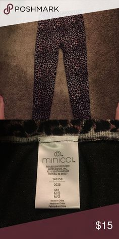 Animal print leggings Reposhing these because I changed my costume idea for Halloween! Perfect for a cat costume. Excellent condition. Would fit M/L Minicci Pants Leggings