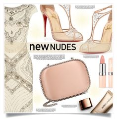 """""""New Nudes"""" by captainsilly ❤ liked on Polyvore featuring Lace & Beads, Christian Louboutin, Nude by Nature, STELLA McCARTNEY and Industrie"""