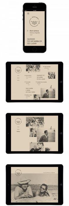 Daniela Cadore – Bossa Nova Club experimental interactive project to promote the Brazilian music Bossa Nova Web Design Mobile, Web Mobile, Web Ui Design, Site Design, Tool Design, Flat Design, Webdesign Inspiration, Web Inspiration, Interface Web