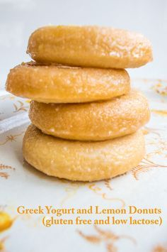 Greek Yogurt and Lemon Baked Donuts #glutenfree #lowlactose