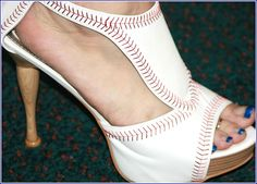 Baseball shoes with a bat heel!