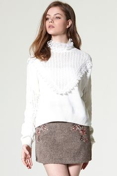 Joena Eyelet Pullover Discover the latest fashion trends online at storets.com