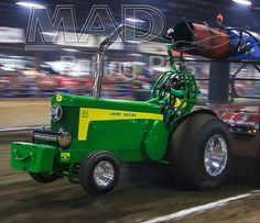 Only John Deere I like. True Grit Truck And Tractor Pull, Tractor Pulling, Logging Equipment, Heavy Equipment, Car Pics, Car Pictures, John Deere Room, Tractor Pictures, Truck Pulls