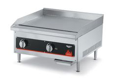 """Vollrath Cayenne 60"""" Gas Flat Top Griddle shipped set up for Natural Gas-includes kit for conversion to Propane - 40840    Cayenne 60"""" Gas Flat Top Griddle, shipped set up for Natural Gas-includes kit for conversion to Propane, 3/4"""" NPT gas inlet, 140,000 BTU, includes regulator and gas valve, stainless & aluminized steel, fully welded, polished surface 3/4"""" thick top plate, 1 manual controls, 12"""" wide heating zone per control, 19""""Lx59-11/16""""W, model #FTG9060, AGA, NSF, Imported"""