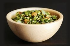 middle eastern food crush: tabouleh - parsley, lemon, couscous and fresh veggies.