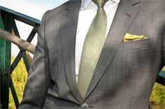 Grey with sage green tie from King & Allen