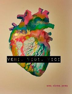 Veni, vidi, vici - Ana Elena Pena Heart Vs Brain, Human Heart, Cindy Sherman, Clowns, Love Is A Verb, Veni Vidi Vici, Collage, Anatomical Heart, Anatomy Art