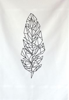 line of owl feathers drawing - Google Search