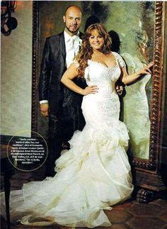 Jenni in her wedding dress