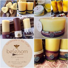 100% pure handmade beeswax candles made from local Georgia beeswax. Perfect for Mother's Day.  www.beesomcandles.com