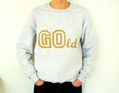 Happy Sweatshirt Gold von Happy Sweaters auf DaWanda.com
