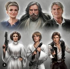 Daniel Kordek Star Wars Princess Leia, Luke Skywalker, Han Solo
