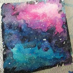 So I was testing to see if I was able to make a galaxy with my watercolors and this happened... #galaxy #space #outerspace #nasa #watercolors #paint #draw #art #artistsofinstagram #worldofartists #artspotlight #artwork #workofart #sketch #sketcbook #drawings #doodle #doodles by pugdoodles