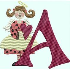 Angel Heart Alphabet - A