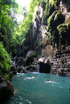 pangandaran, Indonesia - green canyon photo by meinnameistira via flickr