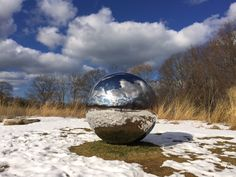 Alicia Framis' Cartas al Cielo in the snow in its current location at Avalon Park and Preserve (photo courtesy of Avalon). Site Planned by Andropogon Associates