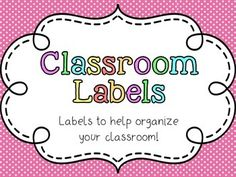 FREE Classroom Supply Labels and Classroom Library Labels