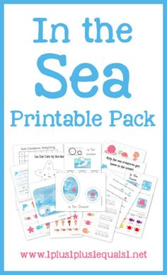 Free In the Sea Printable Pack