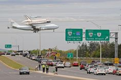 The last flight of the shuttle Discovery..