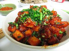 Saucy Dubu Jorim (saucy, simmered tofu) *I had to type it into the search bar)