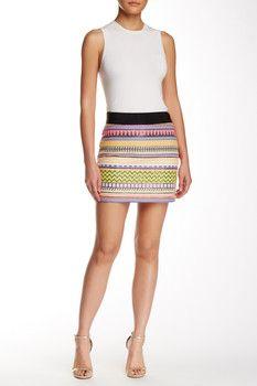 MILLY Jacquard Print Mini Skirt