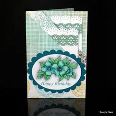 Beccy's Place: Tutorial: Diagonal Double Pocket Card   Tutorial: Diagonal Double Pocket Card This card is perfect for occasions when you want to send someone a gift card, money or even a special photograph.  The two pockets folded into the front of the card can hold any of these items and can be embellished to add even more interest and dimension to the overall card design.