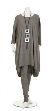 Rundholz Oversized Scoop Tunic in Alge, 95% cotton/5% elastane, £169.00. Other colours: Plankton, Tang, Black. | idaretobe