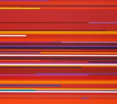 First Art Gallery Paintings - Linear No 15 Sectional Sunrise  by David Roffey