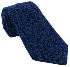 Haddon & Burley Teal Organic Floral Silk Tie