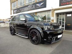 2006 Range Rover Sport 2.7 HSE TDV6 AP Customs 4x4 in Metallic Black with Alpaca Beige memory leather interior.
