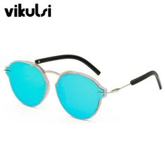 982d460337 2017 Pink Mirror Sunglasses Flat Top Round Sunglasses Women Men Brand  Designer Lady Female Sun glasses UV400 Rose Gold Sheads