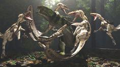 Eolambia and Deinonychus by PaleoGuy.deviantart.com on @deviantART