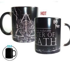 Free shipping! Magic harry potter master of death Mugs color changing mug Tea coffee mug Cups for best friend gift