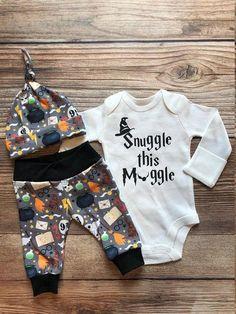 Snuggle this Muggle Onesie  *Gryffindor*  *Free Personalization* Onesie Gift Set Quidditch Blanket Lovie