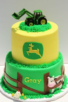 John Deere cake--Becca I just had to repost this because it already had Gray's name on it!  WOW