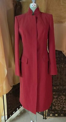 Anne Klein Suit 4 Red Jacket Car Coat Trench | eBay