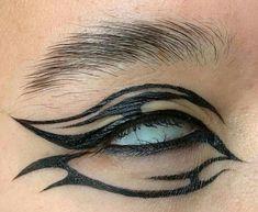 Punk Makeup, Grunge Makeup, Gothic Makeup, Asian Makeup, Korean Makeup, Makeup Eye Looks, Eye Makeup Art, Makeup Inspo, Maquillage Goth